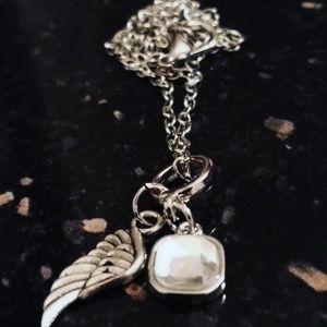 Jewelry - Guardian Angel April Birthstone Necklace